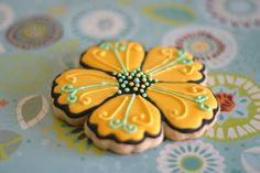 Flower Cookies by @Kathi Bishop Bishop Bishop Bishop Bishop Andrepont Castro from Pink Little Cake :)