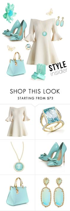Tifanny Blue , white and gold by Diva of Cake featuring mode, Chicwish, Carvela Kurt Geiger, Roberto Cavalli, Kendra Scott, Ippolita and Bloomingdale's