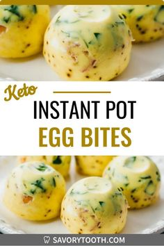 Here is a fabulously easy and healthy recipe for Instant Pot Egg Bites. Keto, low carb, and gluten free. Similar to Starbucks Sous Vide Eggs, they are made using a mixture of eggs, cheese, and fixings that are poured into a silicone mold. After pressure cooking, you can enjoy them immediately or save for later. These ones include spinach and prosciutto, but you can also use bacon or make vegetarian ones.