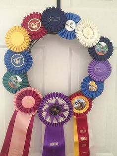 Hey, I found this really awesome Etsy listing at https://www.etsy.com/listing/99098003/horse-show-ribbon-wreath