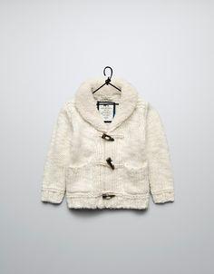 jacket with sheepskin collar - Cardigans and sweaters - Baby boy (3-36 months) - Kids - ZARA Romania