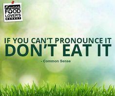 If you can't pronounce it, don't eat it. #Sundaymotivation #FLM #Knysna