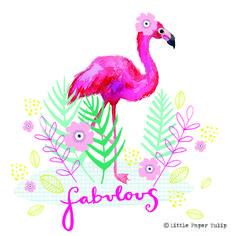 Little Paper Tulip Bird Illustration, Illustrations, Fashion Art, Kids Fashion, Summer Prints, Pretty Birds, Phone Wallpapers, Tulips, Flamingo