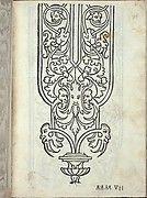 Libro quarto. De rechami per elquale se impara in diuersi modi lordine e il modo de recamare...Opera noua, page 6 (recto)