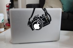 Canon Camera Funny Decal Sticker for Apple MacBook by NickoDesigns, $7.00