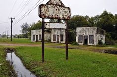 Abandoned road side cabins on Historic Route 66 near Afton, Oklahoma.