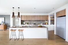 Coastal interior design ideas - Resort Looknook Kitchen from Metricon Homes