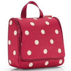 reisenthel Toiletbag XL Toiletry Travel Organizer Ruby Dots ** Continue to the product at the image link. Travel Luggage, Travel Bags, Travel Toiletries, Bag Organization, Toiletry Bag, Travel Accessories, Travel Style, Cosmetic Bag, Bag Making