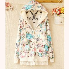 Buy 'Ringnor – Lace-Hem Floral Hoodie' at YesStyle.com plus more China items and get Free International Shipping on qualifying orders.