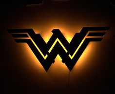 Justice League Wonder Woman Inspired Illuminated Sign