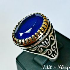 Men's Ring Turkish Ottoman Style Jewelry 925 Sterling by IdilsShop, $80.00