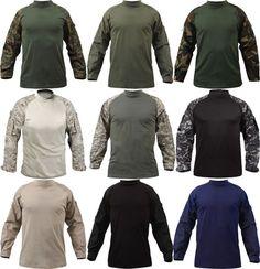 Men Camo Military T-shirt Tactical Long Sleeve Army Combat Shirt Moisture Blouse Tactical Uniforms, Tactical Shirt, Tactical Wear, Tactical Clothing, Combat Shirt, Combat Gear, 17 Kpop, Grandad Shirts, Hunting Clothes