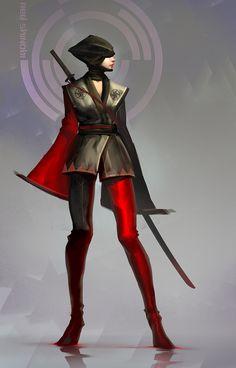 Red Kunoichi by nkabuto on DeviantArt