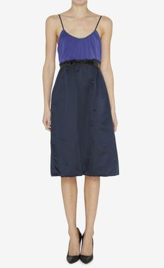 Vera Wang Lavender Label Purple, Navy And Black Dress