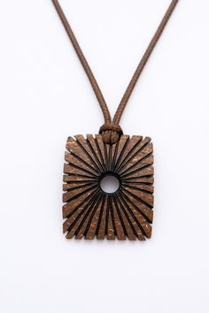 "ON SALE Exotic hand carved pendant""Sunshine"" from coconut shell unisex pendant art pendant natural ethno brown pendant wood pendant handmade - $24.50 USD"
