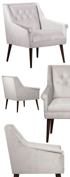Fellow mid-century fans, this one's for you. With angled and tapered dark wood feet and a cleanly cut, boxy seat, this Camden Chair successfully conjures up a classic silhouette. Its seat and delicatel...  Find the Camden Chair, as seen in the Raw and Edgy Glam Collection at http://dotandbo.com/collections/raw-and-edgy-glam?utm_source=pinterest&utm_medium=organic&db_sku=118990