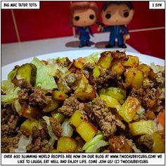 low syn Slimming World big mac tater tots - twochubbycubs Slow Cooker Slimming World, Slimming World Recipes, Tater Tots, Big Mac, Syn Free Sausages, Tater Tot Recipes, Actifry Recipes, Steak Dishes