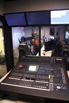 Control room in the new eSports tv-studio (Sweden).