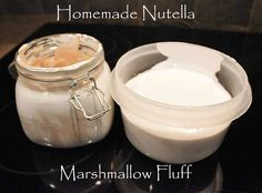 Homemade Nutella Marshmallow Fluff! Can make it any flavor you want--peanut butter would be good!!  Would make a yummy alternative to frosting or maybe a cookie sandwich filling!