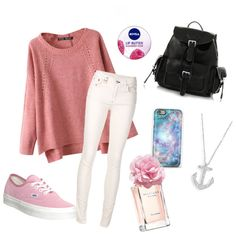 """Pink"" by stolemyheart453 on Polyvore"