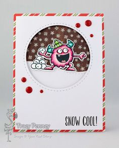 YNS Supplies: Silly Monsters Chill Out |  Circle Die set | Stitching Mark Circle | Cupid Gumdrops