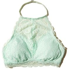 4d7657341944f Hollister Removable-Pads Lace High-Neck Bralette ( 20) ❤ liked on ...