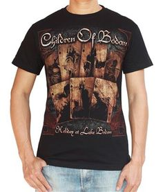 RARE Children Of Bodom Metal Band Music T-shirt Tee ooiqOEjCS