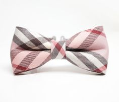 Pink+plaid+pattern+bow+tie++Little+boy+by+lovelywillow+on+Etsy,+$15.00