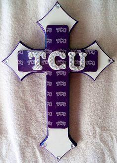 TCU Blingy Cross on Etsy, $25.00