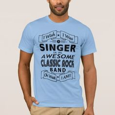 SINGER awesome classic rock band (blk) T-Shirt - diy cyo customize create your own personalize