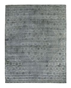 H8AAA Exquisite Rugs Blue Flatweave Rug, 8' x 10'