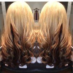 Reverse ombré hair color!  #kayshairr