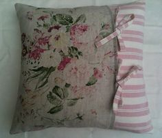 Cabbages and Roses Constance Susie Watson Ticking Cushion Cover | eBay
