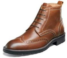 #Florsheim Gaffney Wingtip Boot (Chestnut) #mensshoes