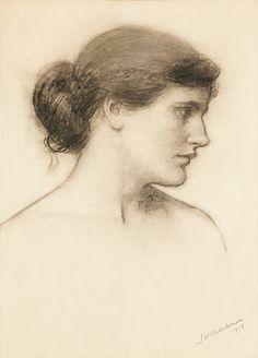 Pre Raphaelite Art: John William Waterhouse - Study