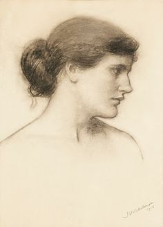 Pre Raphaelite Art: John William Waterhouse - Study