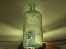 Pottsville Pa. Vintage Soap Bottle Embossed LAUNDRINE BY SALLADE Mf'G CO.