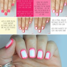 Double Outlined Nail Tutorial via LuLus.com!
