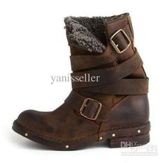 2013 new arrival Jeffrey Campbell Brit Fur Boot in Brown
