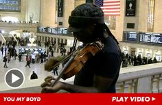 Dave Matthews Band violinist Boyd Tinsley rocked Grand Central Station with an impromptu, rush-hour jam session -- so the question ... would you miss work to stop and watch him shred?