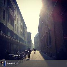 Il sole mi accompagna nella settimana #myrimini @comunerimini #10am #via #tempiomalatestiano #followthesun #street #morning #instarimini #turismoer #regram di @lorelainaf