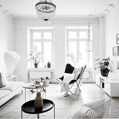 White interior inspo... image via @stadshem #danishdesign #interiordesign #urbancouturedesigns