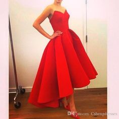 2015 Hot Red A Line Satin Prom Graduation Dresses Short Tea Length Sexy Puffy Evening Gowns For Girls Party Homecoming Dresses Bo7561 Yellow Dress Topshop Graduation Dresses From Cshengdresses, $125.66| Dhgate.Com