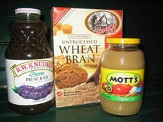 Home Remedy Reverses Chronic Constipation - 1/4 cup All Bran cereal, 3/4 cup unsweetened applesauce, 1/2 cup prunes, 1/2 cup prune juice. In food processor pulse @ low speed till mixture looks like thick pudding. Cover & refrigerate up to one week. Serving size 1/4 cup, 52 cal, 8 gm protein, 4.5 gm dietary fiber.