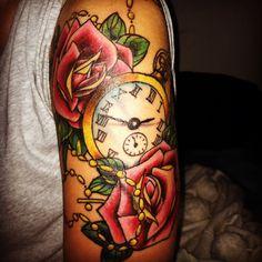 Pocket watch tattoo on 1:43