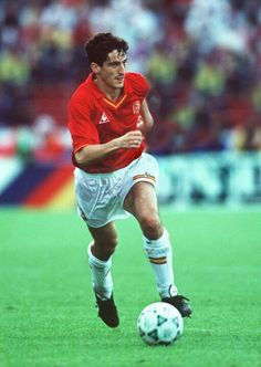 Manuel Jimenez of Spain at the 1990 World Cup Finals.