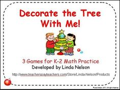 Christmas Math Games: Decorate the Tree with Me!