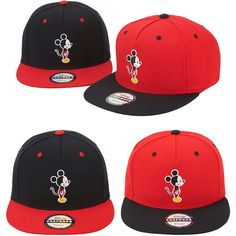 Unisex Men Womens Authentic Disney Mickey Mouse Side Baseball Snapback Caps Hats #hellobincom #BaseballCapHats