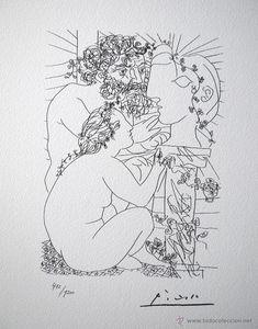 PICASSO, P. (1881-1973). ILUSTRACION PARA SUITE VOLLARD. NUM. (412/1200). FIRMA