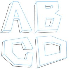 How to Draw 3d Letters | Fun Drawing Lessons for Kids & Adults